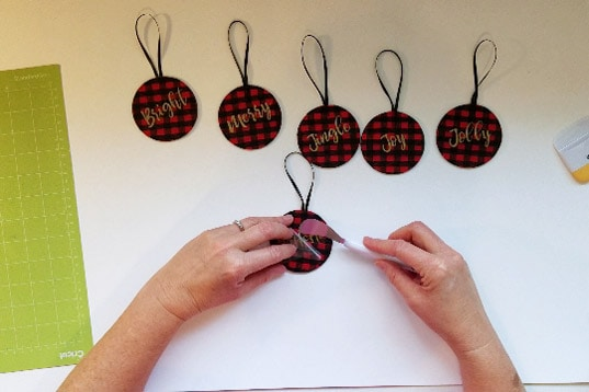 Reversible Buffalo Plaid Christmas Ornaments - Girl, Just DIY!
