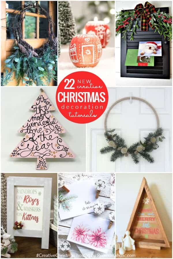 Button christmas ornaments roundup collage by remodelaholic.