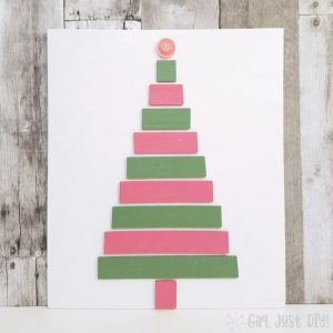 Christmas Tree Craft with Paint Sticks