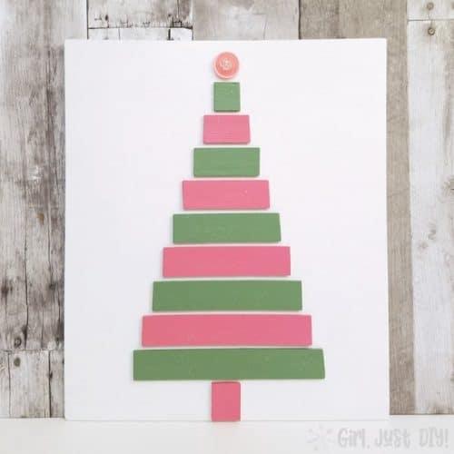 Christmas Tree Craft with Paint Sticks