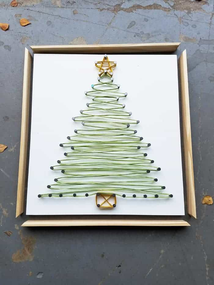 Cutting frame for string art Christmas Tree.