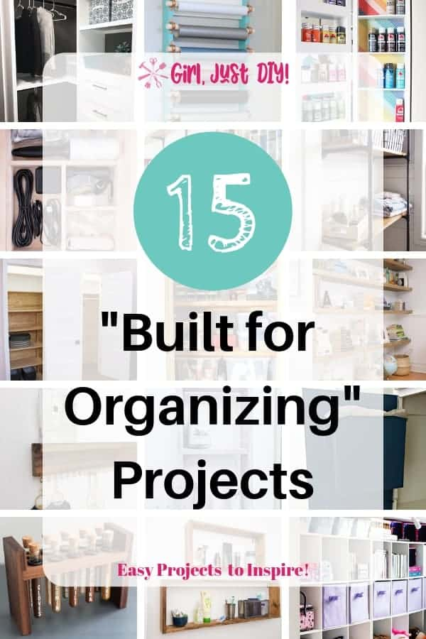 Tall collage of 15 Built for Organizing projects.