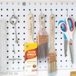 How to Install Pegboard above your Workbench