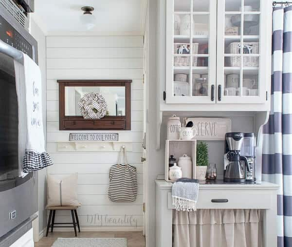 Shiplap wall added to kitchen  in Household DIY Projects.