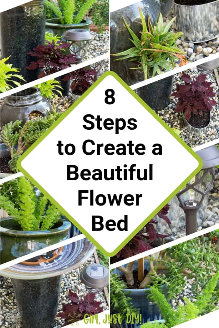 8 steps to create a beautiful flower bed collage.