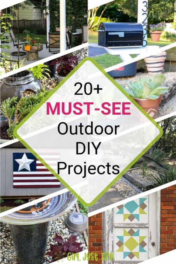 Outdoor DIY projects ideas collage.