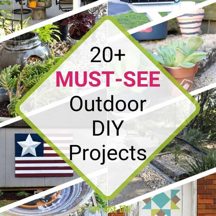 20+ Outdoor DIY Projects Square Collage