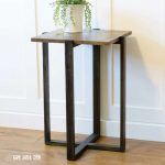 DIY Modern End Table with Available Build Plans