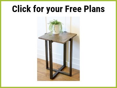 Free Plan Link for Modern End Table