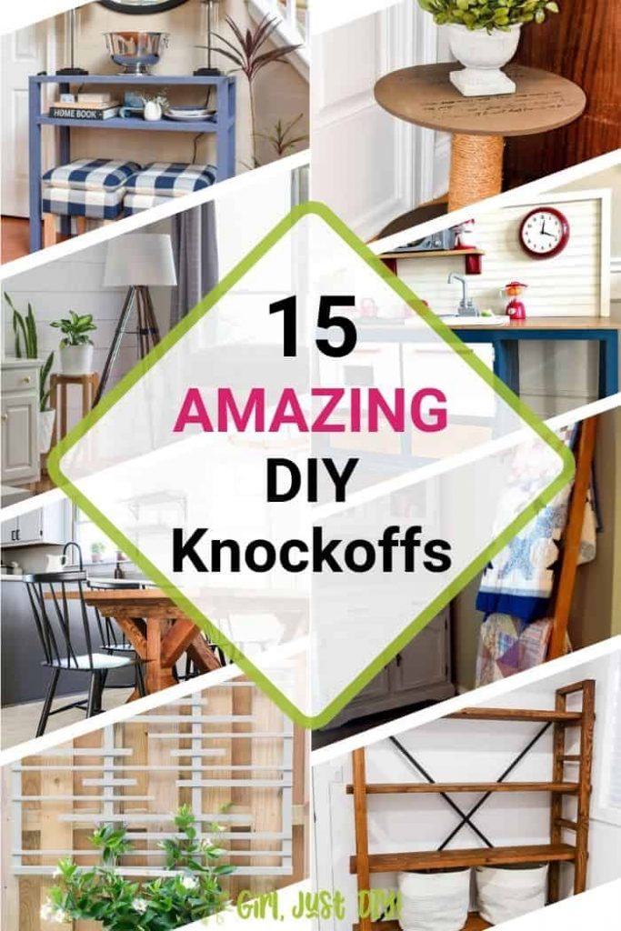 Collage with 8 images of DIY Knockoff projects.