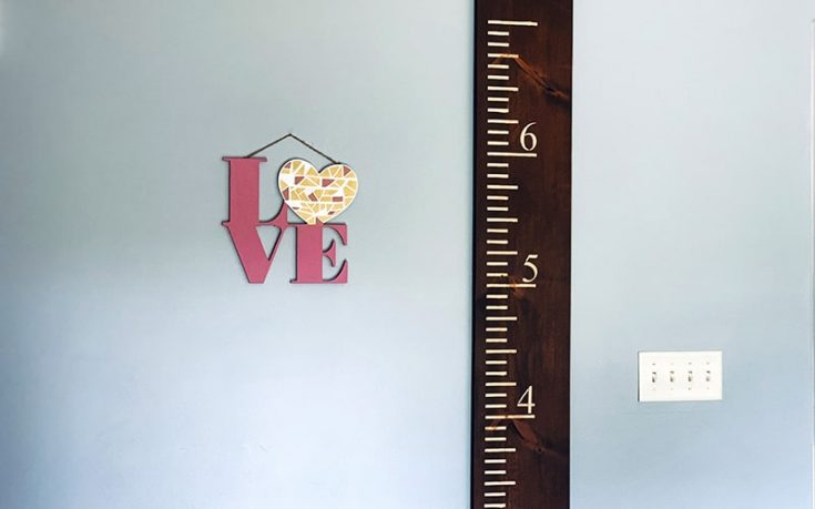 Simple & Easy DIY Growth Chart For Half The Cost of Retail