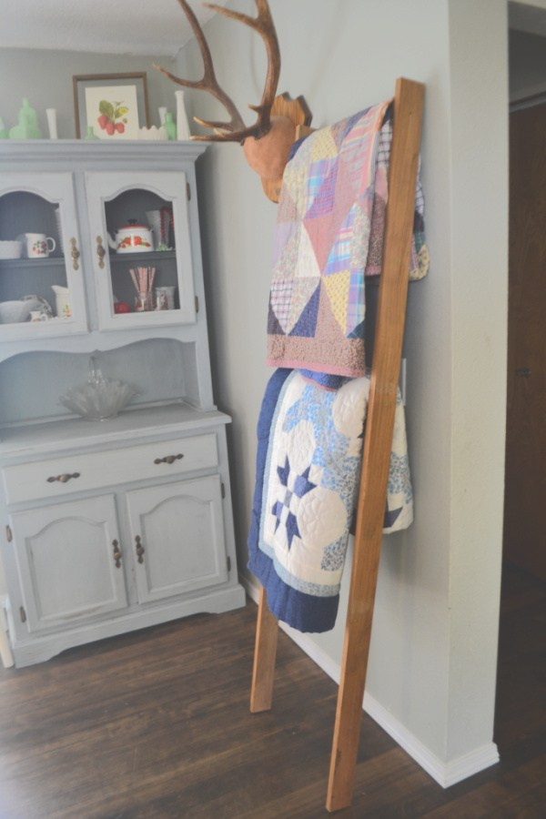 How to DIY a Blanket Ladder