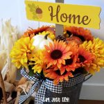 Dollar Store Fall Flower Bucket DIY