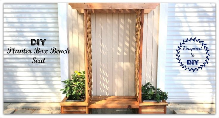 DIY Planter Box Bench Seat: Free Building Plans