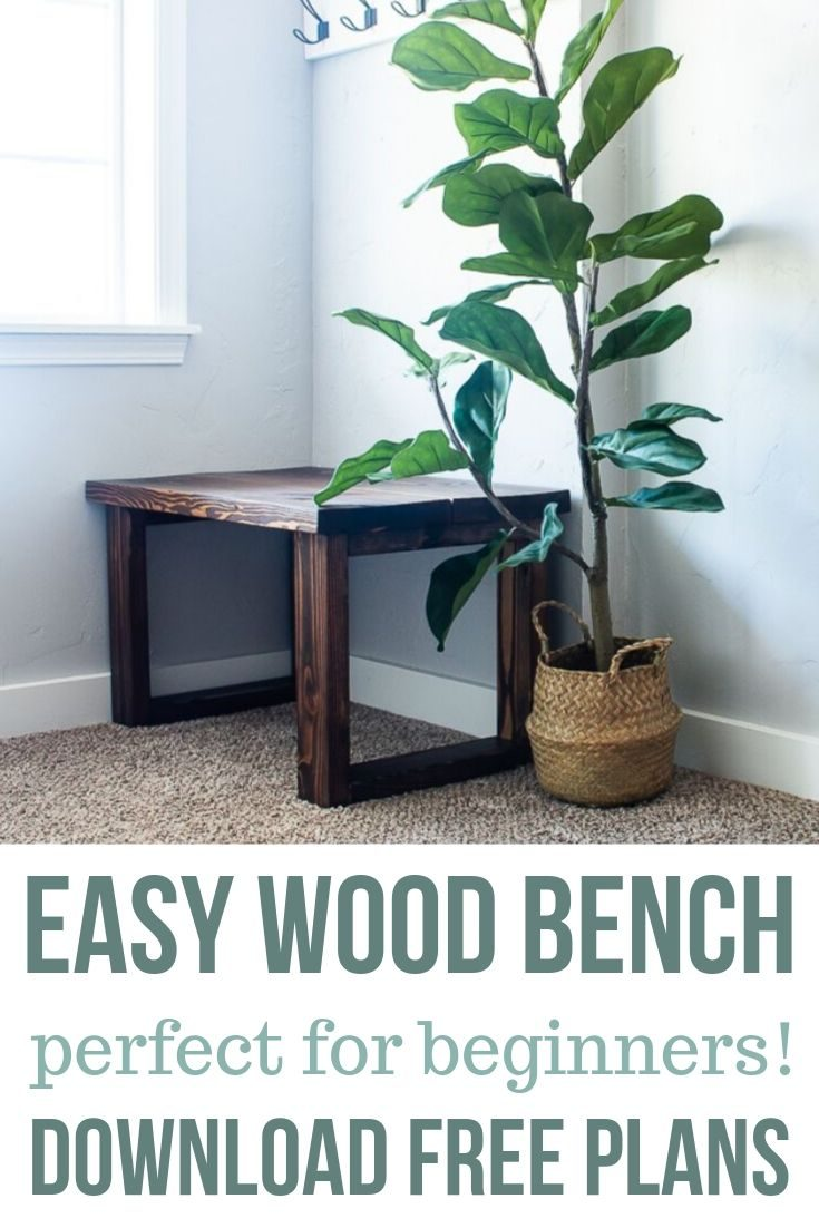 Easy DIY Bench For Small Entryway (With Free Plans)