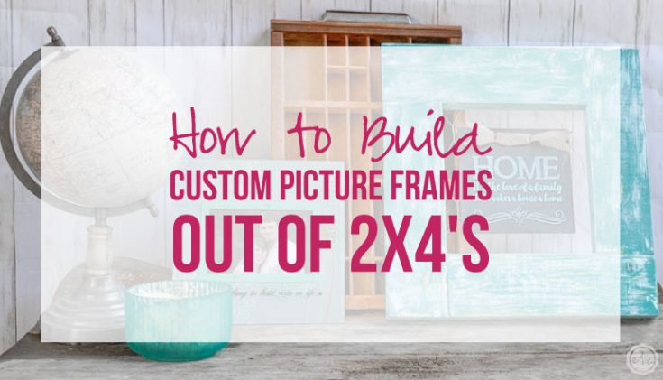 How to Build Custom Picture Frames out of 2x4's