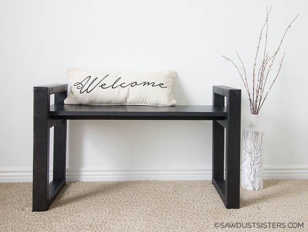 Easy DIY Small Wooden Bench (Free Plans)