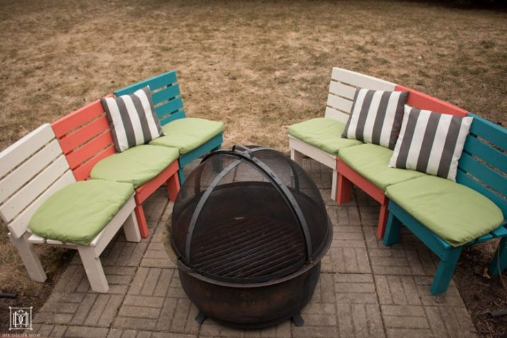 DIY Fire Pit Bench: How to Build a Curved Fire Pit Bench For Under $100