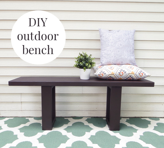 How to Make an Easy West Elm Inspired DIY Outdoor Bench