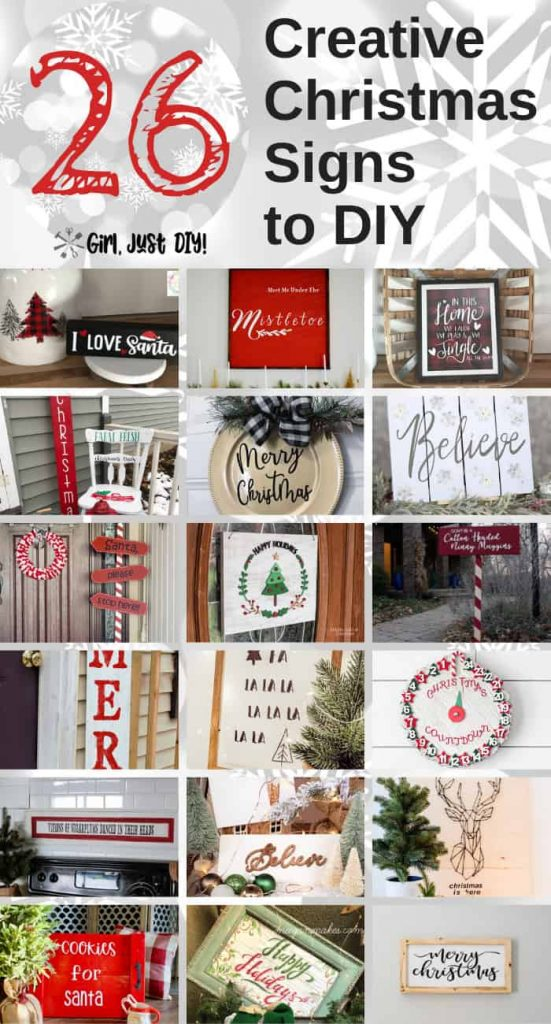 Another collage of DIY Creative Christmas Signs