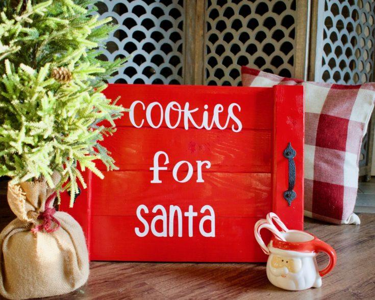 Easy DIY Santa Cookie Tray ~ Southern Yankee DIY