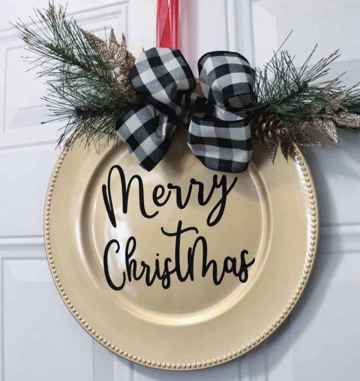 Dollar Tree Christmas Door Decor