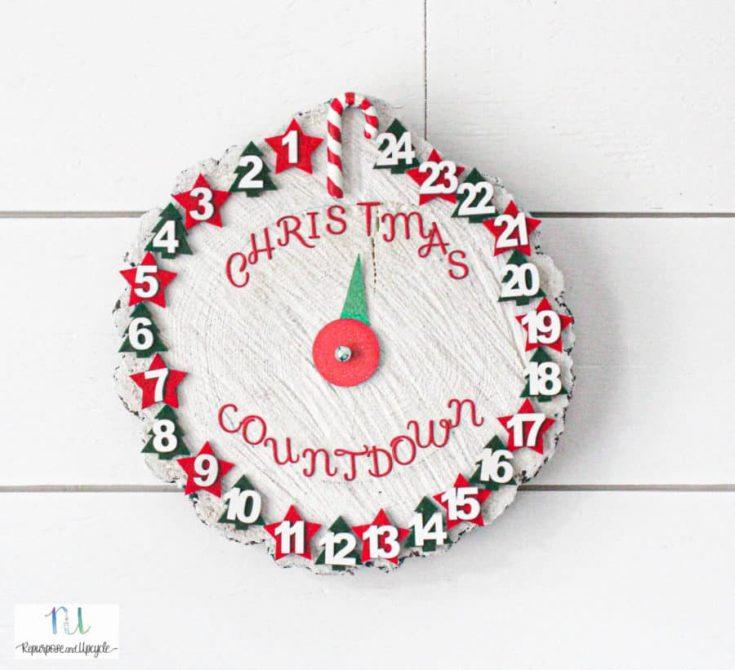 Rustic Christmas Countdown Clock