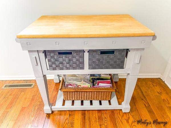 Repurposed Kitchen Cart