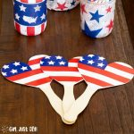 4th of July Paper Plate Fans - for your Independence Day BBQ