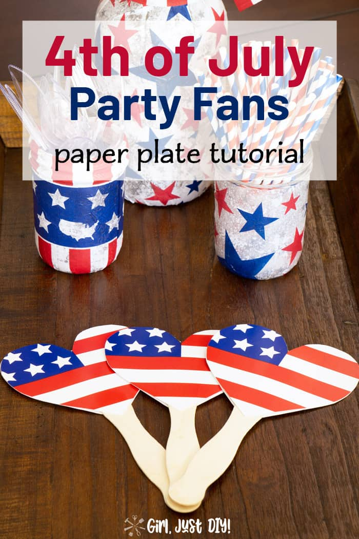 Paper Plate Fans laying on table in front of centerpiece