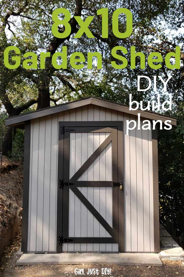 8x10 Shed Plans - Build your own Garden or Storage Shed ...