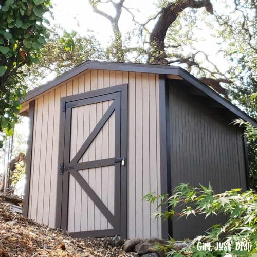 8x10 Shed plans on a hillside square image