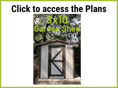 8x10 Shed plans to download