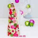 DIY Button Christmas Tree Table Topper