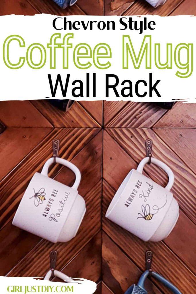 DIY Coffee Mug Rack with text