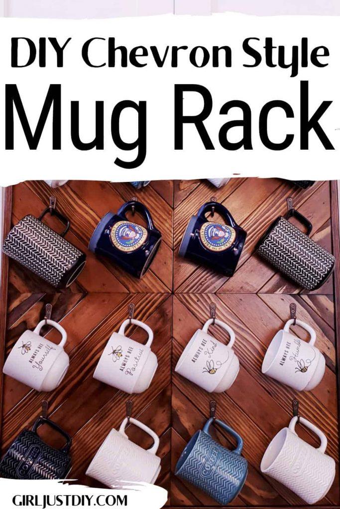 DIY Coffee Mug Rack with Text overlay